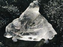 Weißes Eis Stockfoto