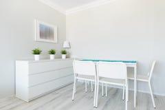 Weißes Esszimmer Stockbilder
