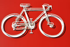 Weißes Fahrrad Stockfotografie