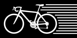 Weißes Fahrrad Stockfoto