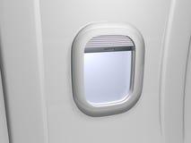 Weißes Fensterflugzeug Stockbilder