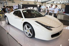 Weißes Ferrari-Auto Stockfotografie