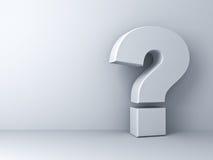 Weißes Fragezeichen Lizenzfreie Stockbilder