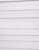 Weißes Garagentor-Detail Stockbilder