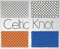 Weißes gelbes Blau der keltischen Verzierung Lizenzfreie Stockfotos