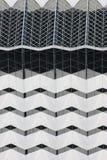 Weißes geometrisches Gebäude Stockfotografie