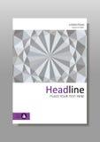 Weißes geometrisches Hintergrund-Abdeckungsdesign der Beschaffenheit 3d A4 Vektor Lizenzfreies Stockfoto