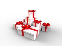 Weißes Geschenk Lizenzfreies Stockfoto