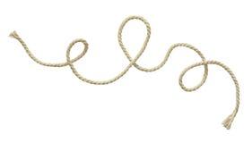 Weißes gewelltes Seil lizenzfreies stockbild
