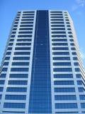 Weißes Glasgebäude Stockfoto