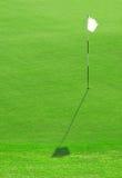Weißes Golf-Markierungsfahnen-Loch Stockfoto