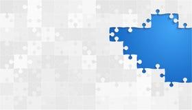 Weißes Grey Puzzles Pieces - Vektor-Laubsäge Lizenzfreie Stockbilder