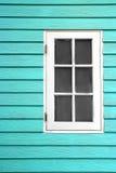 Weißes hölzernes Fenster Stockfoto