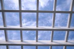 Weißes hölzernes Gitter Stockbilder