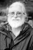 Weißes Haar und Bart (BW) Lizenzfreie Stockbilder