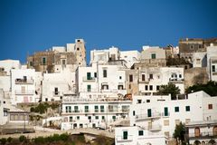 Weißes Haus im peschici, Italien Stockfoto