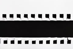 Weißes heftiges Papierfeld Stockbilder