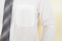 Weißes Hemd mit Tasche Stockbild