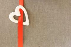 Weißes Herz Lizenzfreie Stockbilder