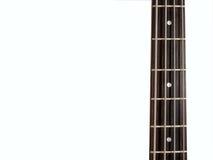 Weißes Hintergrundbass-isolat der Gitarre Stockbild