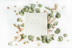 Weißes Hochzeits- oder Familienfotoalbum Stockbilder