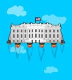 Weißes houseFliegen mit Rakete Turbo USA Präsident Wohnsitz I Stockbild