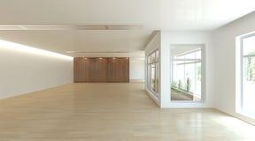 Weißes Innenkonzept für Wohnzimmer Stockbild