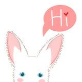 Weißes Kaninchen-Schleichen Gruß-Karten-Weihnachtstag Auch im corel abgehobenen Betrag lizenzfreie abbildung