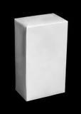 Weißes Kartonpaket von Milch oder von Saft Lizenzfreies Stockbild