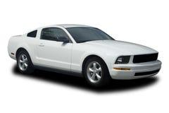 Weißes klassisches Auto Stockfotos