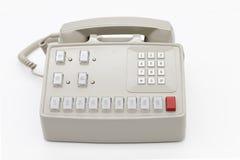 Weißes klassisches Telefon Stockbild