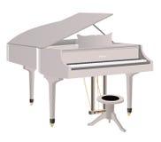 Weißes Klavier Stockfotografie