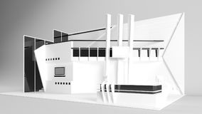 Weißes kreatives Ausstellungsstanddesign Standschablone Corporat Stockbilder