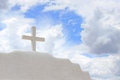 Weißes Kreuz Lizenzfreies Stockfoto