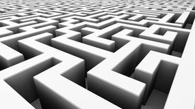 Weißes Labyrinth Stockbild