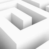 Weißes Labyrinth Lizenzfreie Stockfotos
