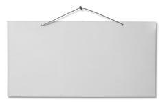 Weißes lackiertes Blatt - Ausschnittspfad Lizenzfreies Stockfoto