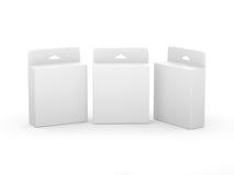 Weißes leeres Kasten Tinten-Patronen-Paket mit Beschneidungspfad Stockfoto