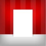 Weißes leeres leeres Papier der Größe A4 mit editable Elementen Lizenzfreie Stockfotografie