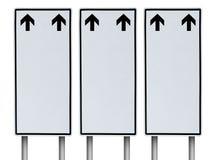 Weißes leeres Verkehrszeichen auf lokalisiertem weißem Hintergrund Lizenzfreie Stockfotografie