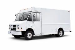 Weißes Lieferwagen auf Weiß mit Tropfenschatten Stockbilder