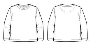 Weißes long-sleeved T-Shirt Stockbild