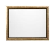Weißes Malersegeltuch im Rahmen lokalisiert auf Weiß stockfoto