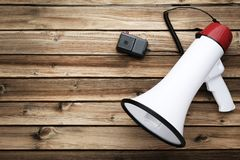 Weißes Megaphon stockfotografie