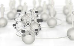 weißes menschliches Soziales Netz 3d Stockfoto