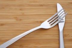 Weißes Messer und Gabel Stockfotos