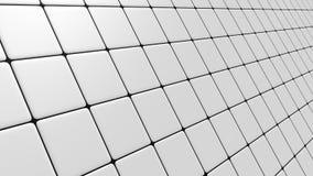 Weißes Mosaik schiefen Fliehens Stockfotografie