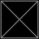 Weißes Muster auf einem schwarzen Hintergrund in der keltischen und arabischen Art Lizenzfreies Stockbild