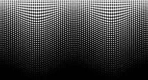 Weißes Muster der Halbtonwelle Horizontaler Hintergrund unter Verwendung der gewellten Punkthalbtonbeschaffenheit Auch im corel a stockfotos