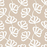 Weißes nahtloses Blumenmuster Lizenzfreies Stockbild